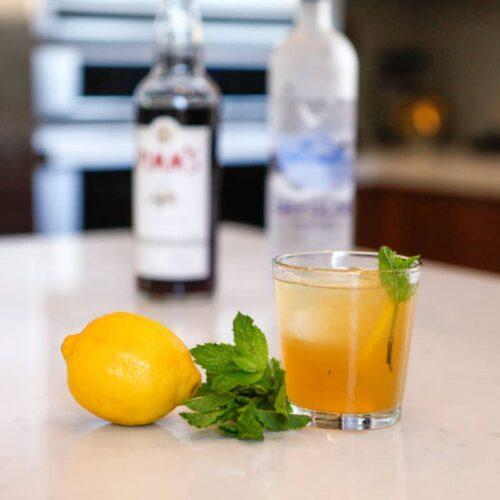 summer cocktail, afternoon tea